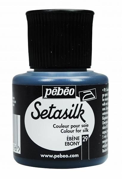 Barvy na hedvábí Pébéo SETASILK (45ml): 029 - Ebenová (45ml)
