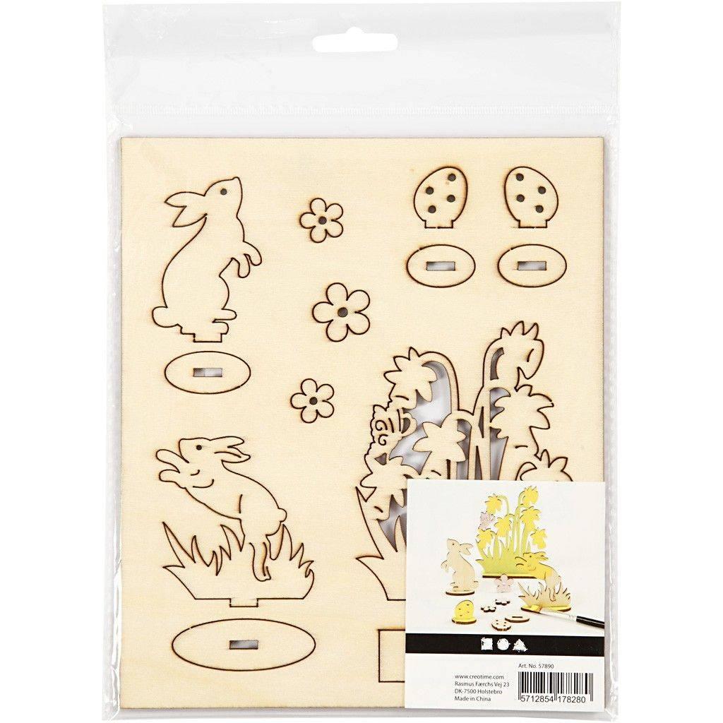 Dřevěný výřez Velikonoce: 57890 Zajíc