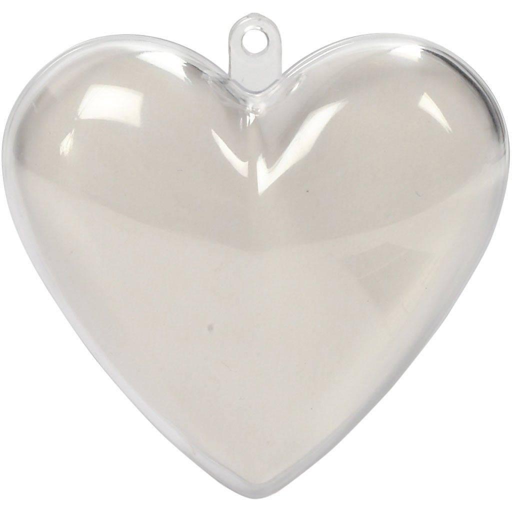 Plastové srdce dvoudílné 6,5cm
