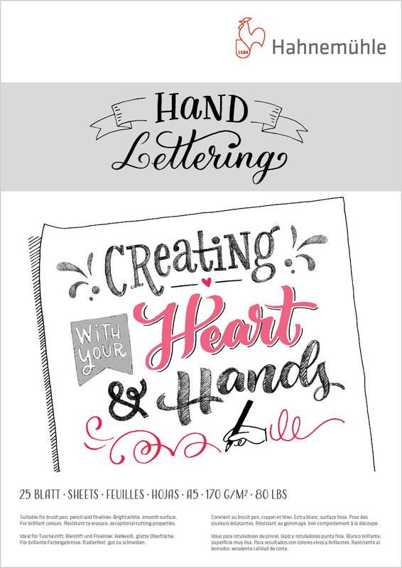 Hand Lettering blok A5