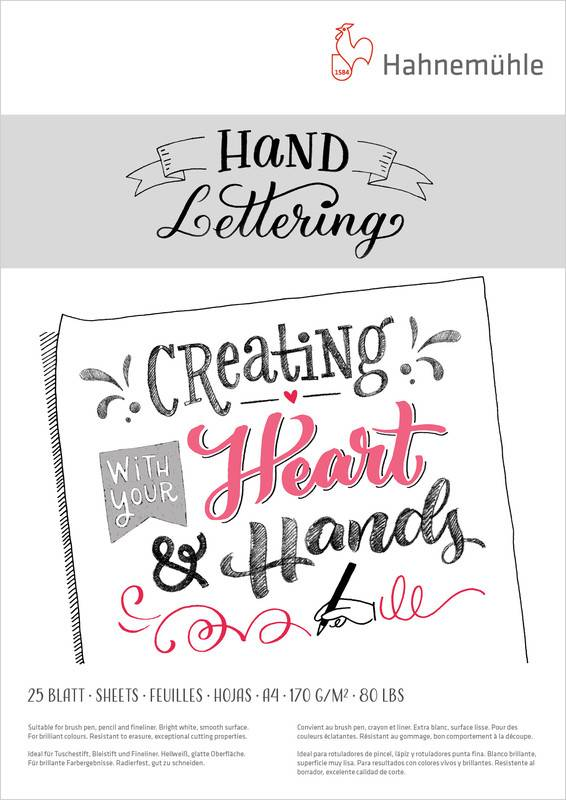 Hand Lettering blok A4