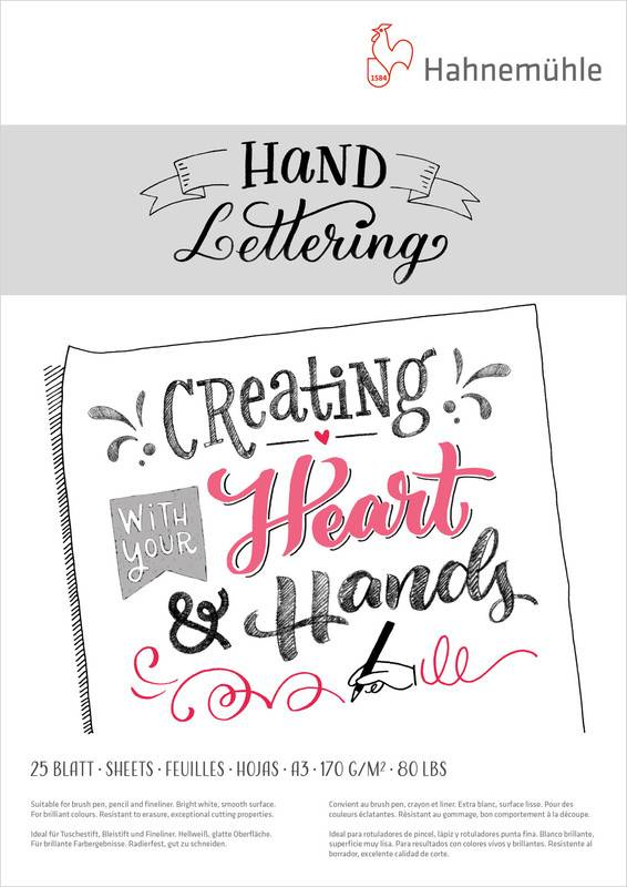 Hand Lettering blok A3